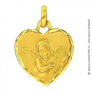 Médaille Ange coeur (Or Jaune)