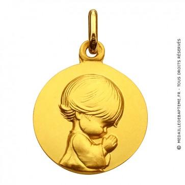 Médaille Augis Ange agenouillé (Or Jaune)