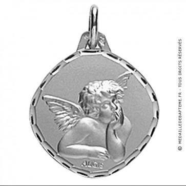 Médaille Augis Ange losange (Or Blanc)
