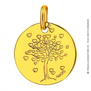 Médaille arbre aux coeurs (Or Jaune)