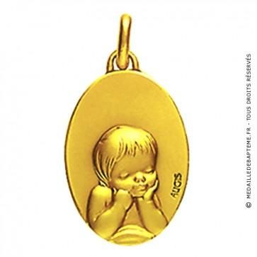 Médaille Chérubin ovale (Or Jaune)