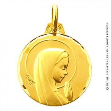 Médaille Augis Vierge aureolée (Or Jaune)