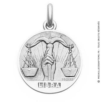 Médaille Zodiaque Balance BECKER ( argent)