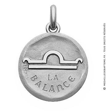 Médaille stylisée Zodiaque Balance BECKER ( argent)