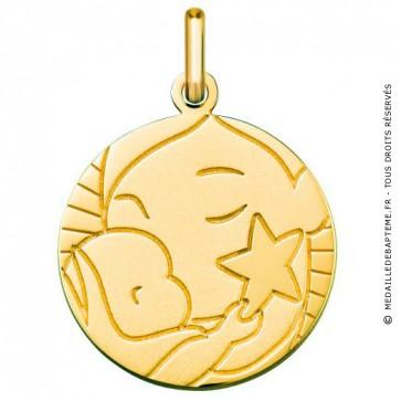 Médaille l'Enfant à l'étoile (Or Jaune 9K)