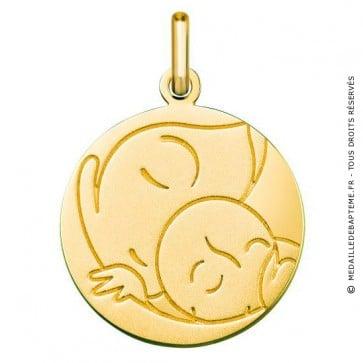 Médaille Vierge/Enfant (Or Jaune 9K)