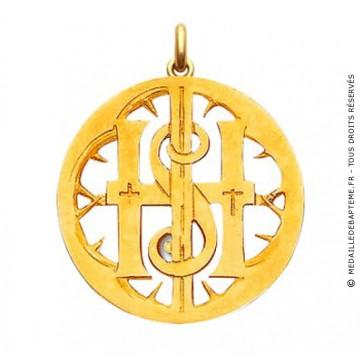 Médaille Symbole Mono  - medaillle bapteme Becker