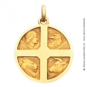 Médaille 4 Evangélistes - medaillle bapteme Becker