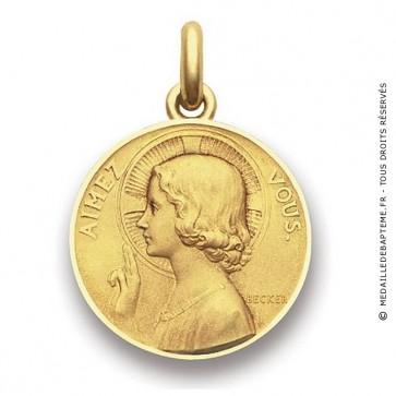 Médaille Aimez-vous  - medaillle bapteme Becker
