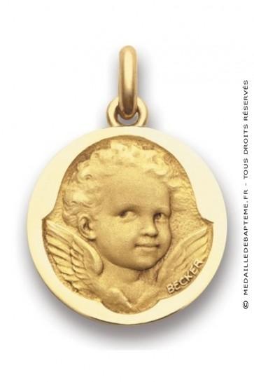 Médaille Ange Espiègle  - medaillle bapteme Becker