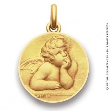 Médaille Ange Raphael  - medaillle bapteme Becker