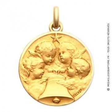 Médaille Angélus  - medaillle bapteme Becker