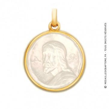 Médaille Catacombes en nacre - medaillle bapteme Becker