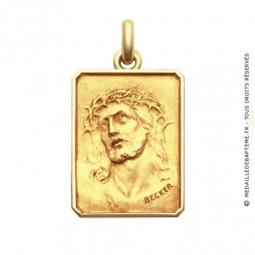 Médaille Christ Ecce Homo  - medaillle bapteme Becker