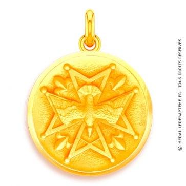 Médaille Médaille Huguenote  - medaillle bapteme Becker