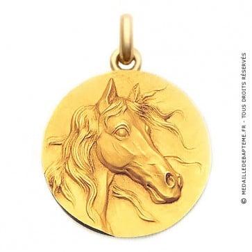 Médaille Le Cheval  - medaillle bapteme Becker