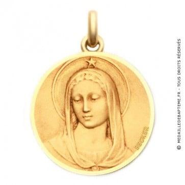 Médaille Maris Stella - medaillle bapteme Becker