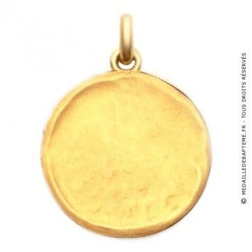 Médaille Martelée  - medaillle bapteme Becker