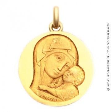 Médaille Notre Dame de Tendresse  - medaillle bapteme Becker