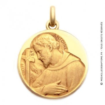 Médaille Saint Antoine  - medaillle bapteme Becker