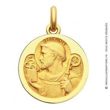 Médaille Saint Benoit  - medaillle bapteme Becker