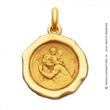 Médaille St Christophe Cachet  - medaillle bapteme Becker