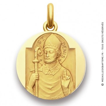 Médaille Saint Denis  - medaillle bapteme Becker