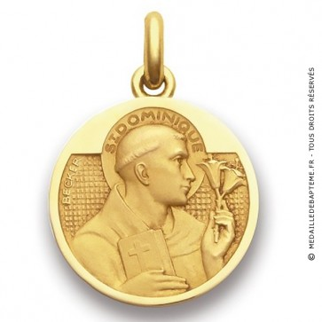 Médaille Saint Dominique  - medaillle bapteme Becker