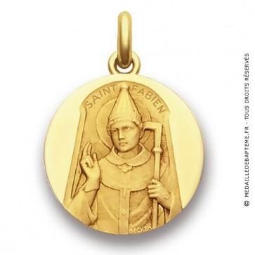 Médaille Saint Fabien - medaillle bapteme Becker