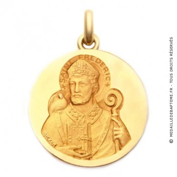 Médaille Saint Frédéric  - medaillle bapteme Becker