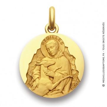 Médaille Saint Gilles  - medaillle bapteme Becker