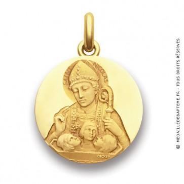 Médaille Saint Nicolas  - medaillle bapteme Becker