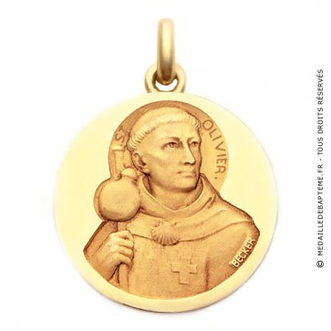 Médaille Saint Olivier  - medaillle bapteme Becker