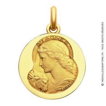 Médaille Sainte Agnès - medaillle bapteme Becker