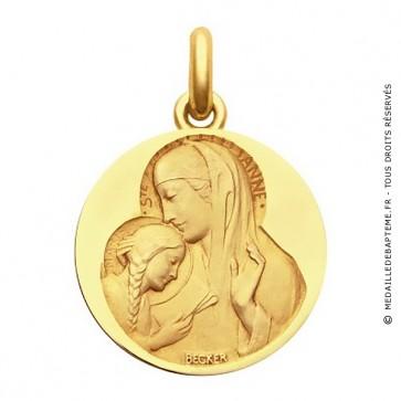 Médaille Sainte Anne  - medaillle bapteme Becker