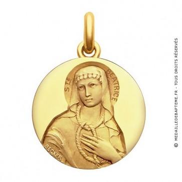 Médaille Sainte Béatrice  - medaillle bapteme Becker