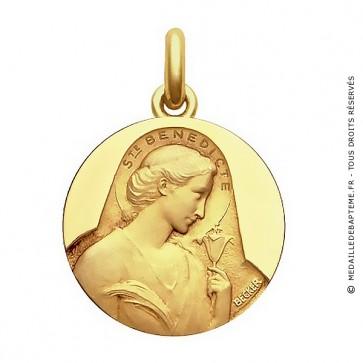 Médaille Sainte Bénédicte  - medaillle bapteme Becker