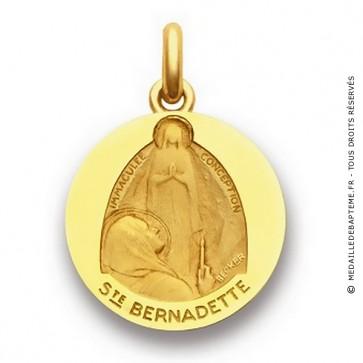 Médaille Sainte Bernadette Extase  - medaillle bapteme Becker
