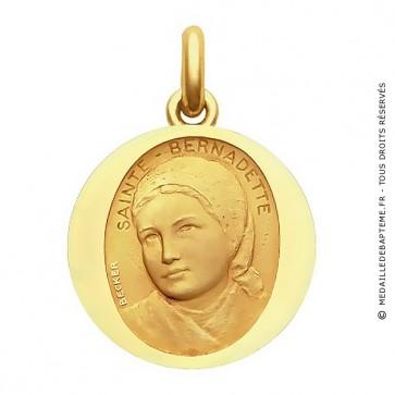 Médaille Sainte Bernadette  - medaillle bapteme Becker