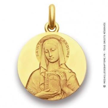 Médaille Sainte Caroline  - medaillle bapteme Becker