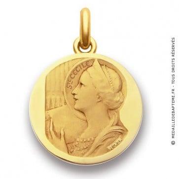 Médaille Sainte Cécile  - medaillle bapteme Becker