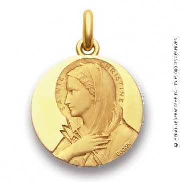 Médaille Sainte Christine  - medaillle bapteme Becker