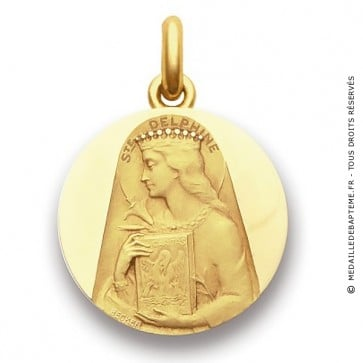 Médaille Sainte Delphine  - medaillle bapteme Becker