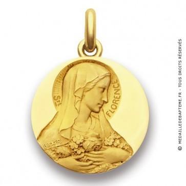 Médaille Sainte Florence  - medaillle bapteme Becker