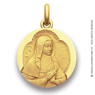 Médaille Sainte Françoise  - medaillle bapteme Becker