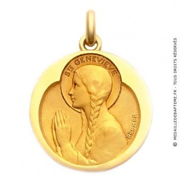Médaille Sainte Geneviève  - medaillle bapteme Becker