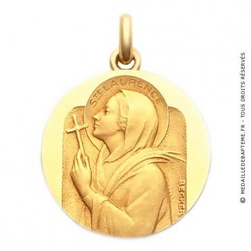 Médaille Sainte Laurence  - medaillle bapteme Becker