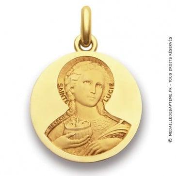 Médaille Sainte Lucie  - medaillle bapteme Becker