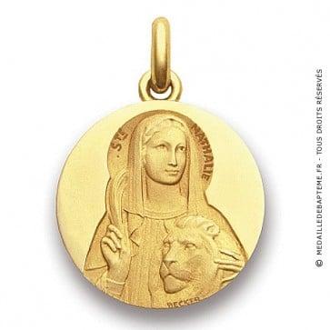 Médaille Sainte Nathalie  - medaillle bapteme Becker