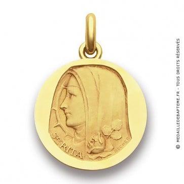 Médaille Sainte Rita  - medaillle bapteme Becker